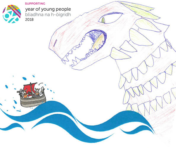 Sea-monster drawing activity