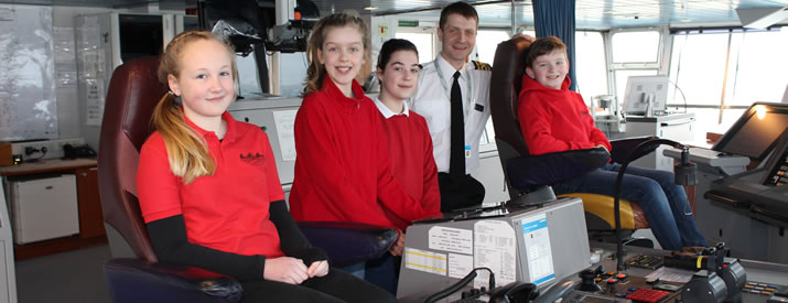Northern Isles pupils call for passengers' attention