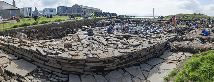 Structure 10 at the Ness of Brodgar, Orkney