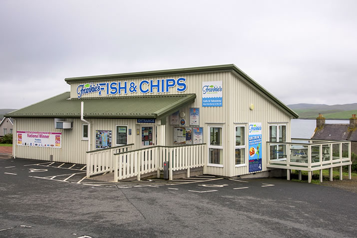 Frankies Fish and Chip Shop in Brae, Shetland