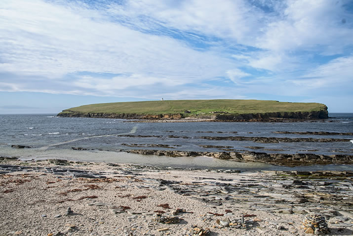 The beach at the Brough of Birsay, Orkney