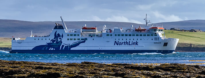 MV Hamnavoe sailing from the Orkney Islands to the Scottish Mainland