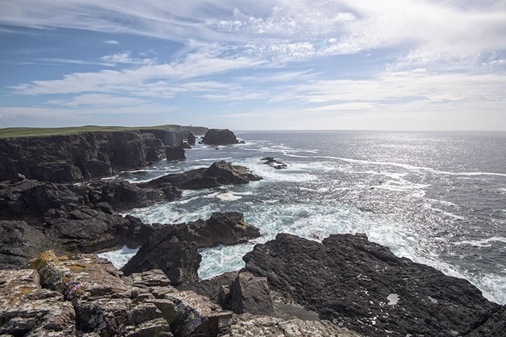 Eshaness cliffs in the Shetland Islands