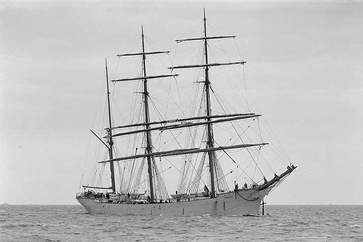 The Bohus ship at sea