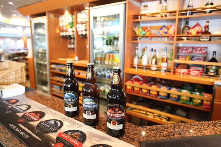 Orkney and Shetland beers available in the NorthLink bars