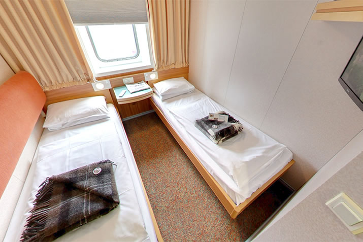 Premium Outer 2 berth cabin on board NorthLink Ferries ships to Shetland and Orkney