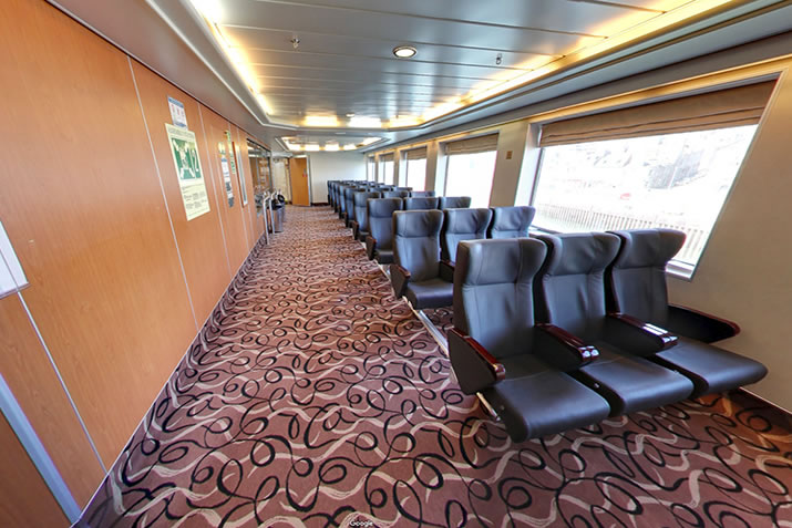 Reclining seats on board NorthLink Ferries ships to Shetland and Orkney