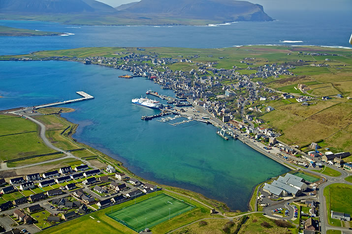 Stromness, Orkney Islands from the air