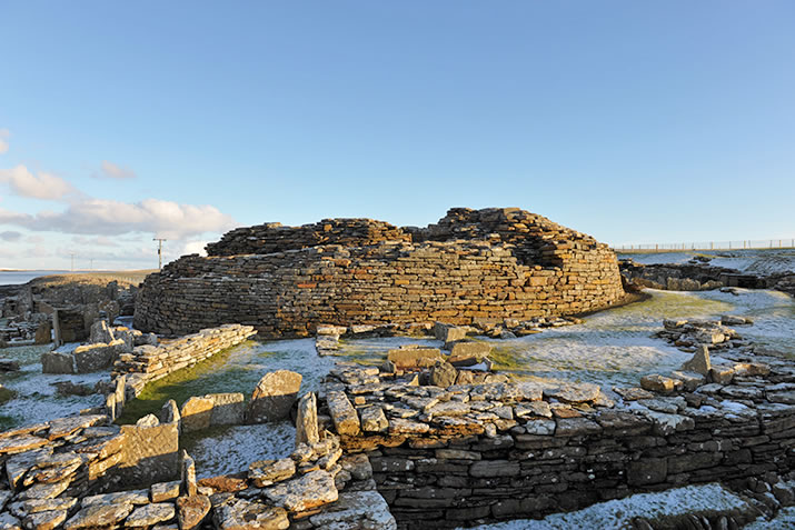 The Broch of Gurness in Orkney