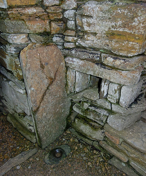 The Broch of Gurness door, Orkney