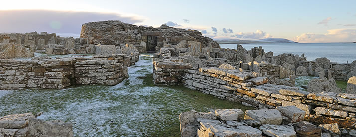 The Broch of Gurness in Evie, Orkney