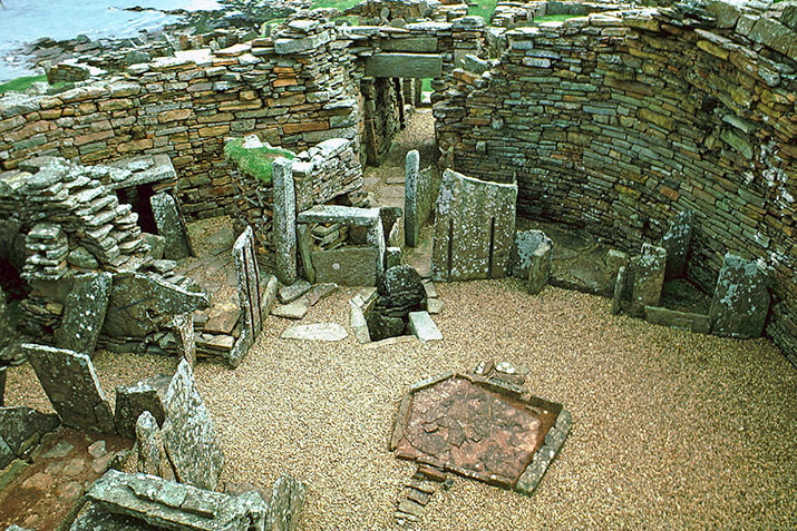 The interior of the Broch of Gurness, Orkney