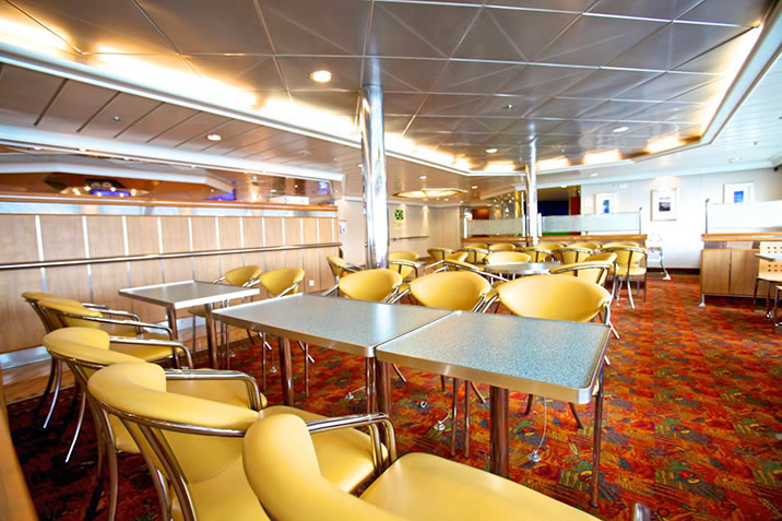 The Feast self catering restaurant on board NorthLink Ferries ships