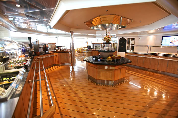 The Feast self catering restaurant on board NorthLink Ferries