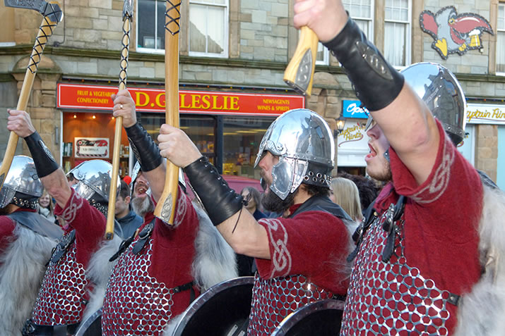 The Jarl Squad sing the Up Helly Aa song