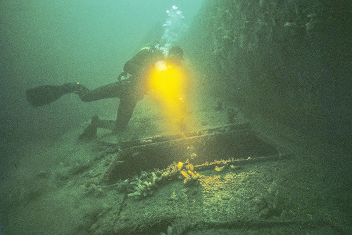 Diving the wrecks in Scapa Flow, Orkney