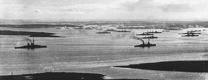The German High Seas Fleet in Scapa Flow, Orkney