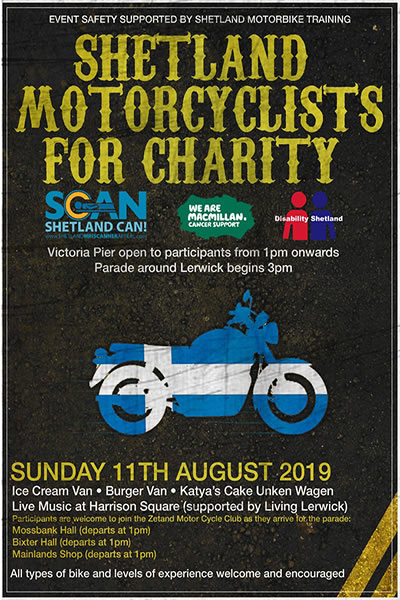 Charity Motorcycle Ride around Lerwick