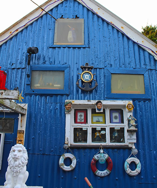 Blue shed in Footdee, Aberdeen