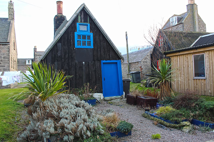 Converted shed in Footdee, Aberdeen