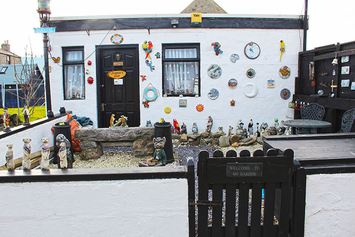 Decorated shed in Fittie, Aberdeen