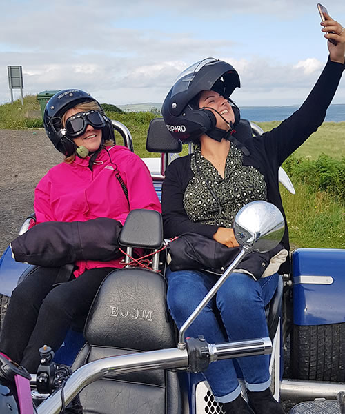 Enjoying an Orkney Trike Tour