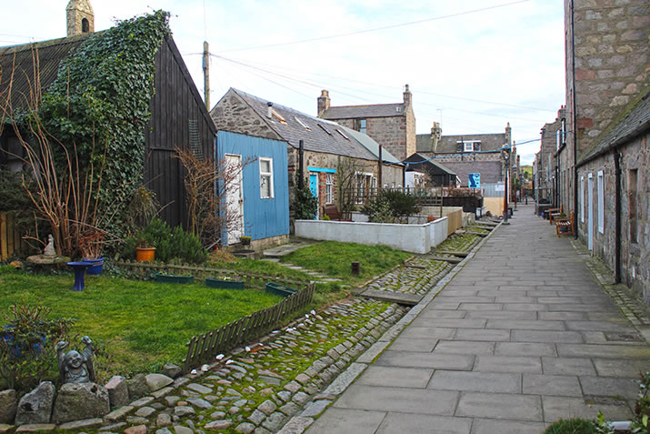 Footdee in Aberdeen - street