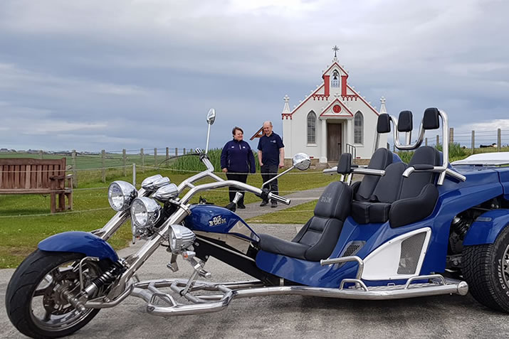 Orkney Trike Tours at the Italian Chapel