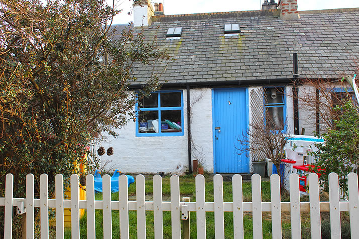 Shed with a blue door, Footdee, Aberdeen