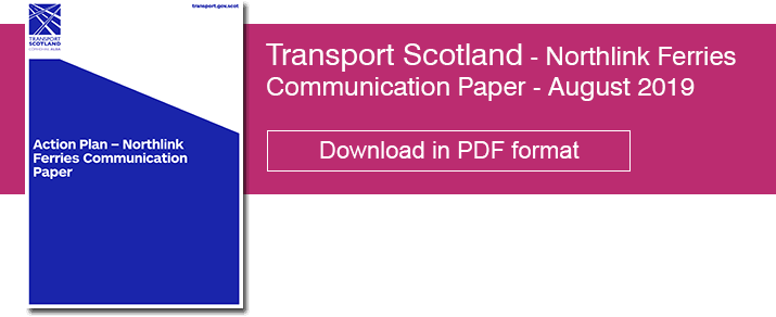 Transport Scotland - Action Plan – Northlink Ferries Communication Paper - August 2019