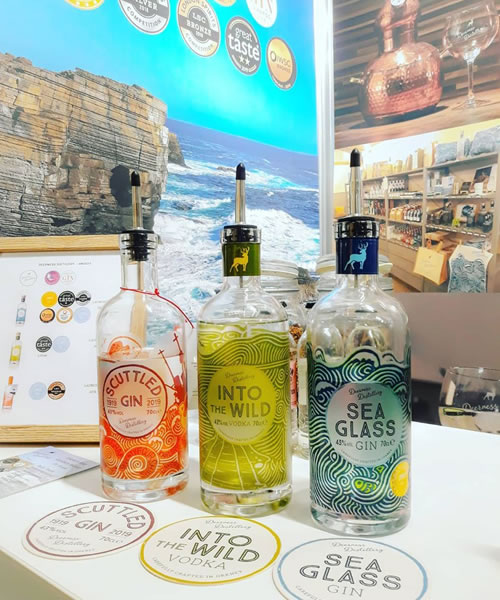 Deerness Distillery - Scuttled Gin, Into the Wild Vodka and Sea Glass Gin