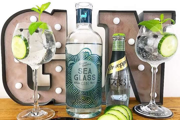 Deerness Distillery - Sea Glass gin and tonic