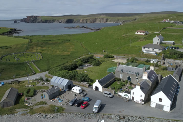 Hillswick Wildlife Sanctuary, Shetland from the air