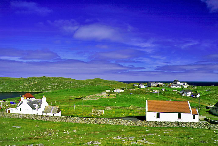 Out Skerries houses, Shetland