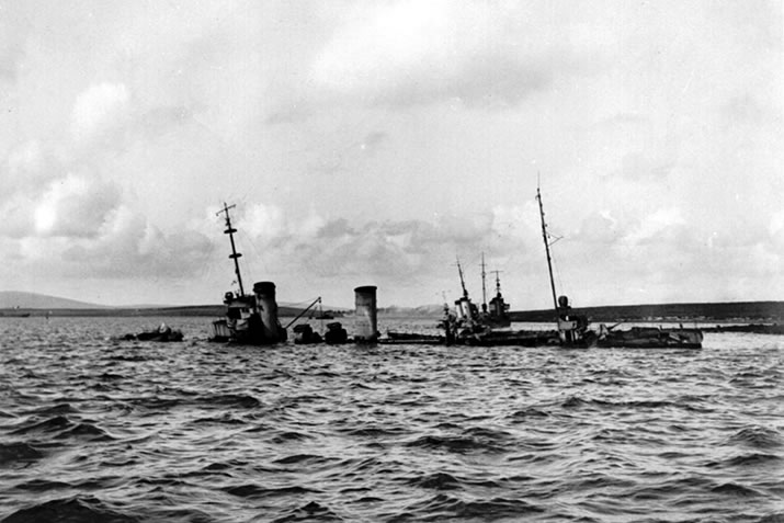 Sunken ship from the German High Seas Fleet