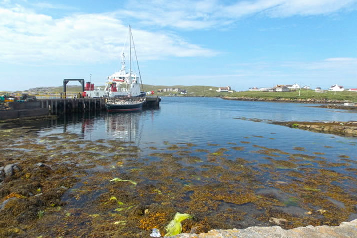 The harbour, Out Skerries, Shetland © Chris Downer