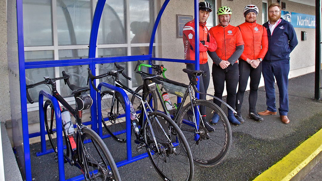 NorthLink install cycle racks in ports