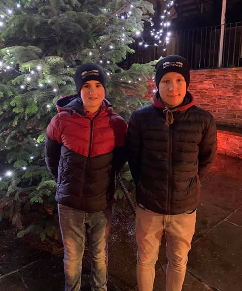 The Stromness Yule Log pull 2019 Junior Captains