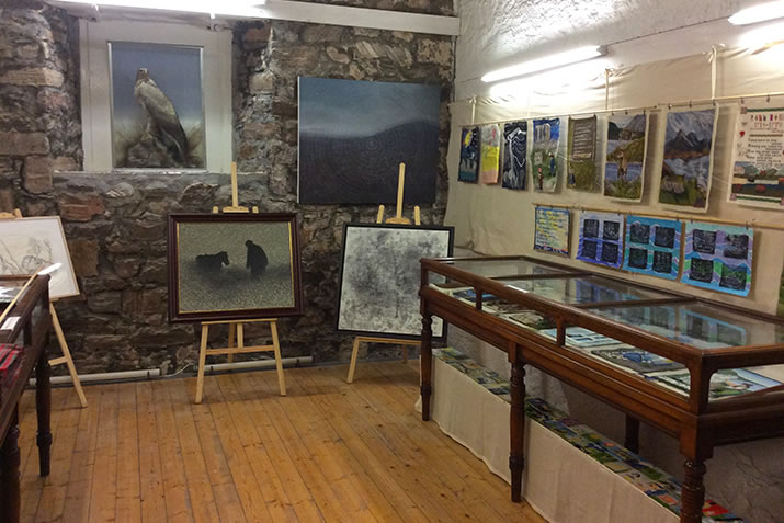 Rob Donn exhibition set up in Strathnaver Museum