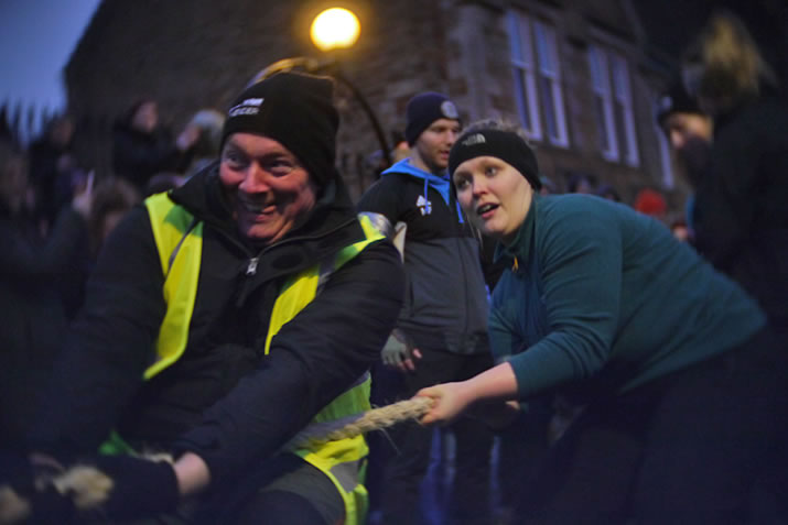 The Stromness Yule Log - a traditional Orkney event