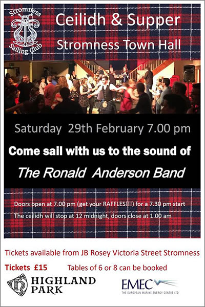 Stromness Sailing Club Ceilidh and Supper
