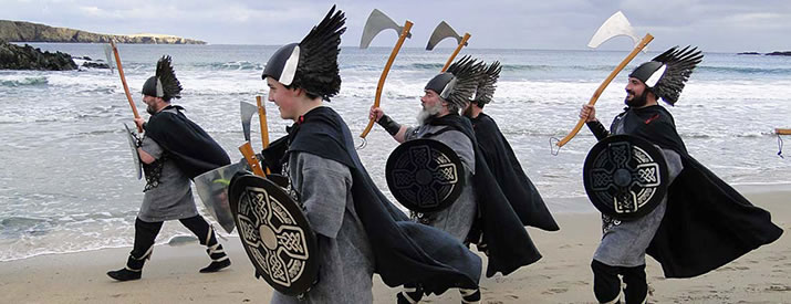 Norwick Up Helly Aa - one of Shetland's rural fire festivals