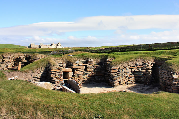 Skara Brae and Skaill House in Orkney