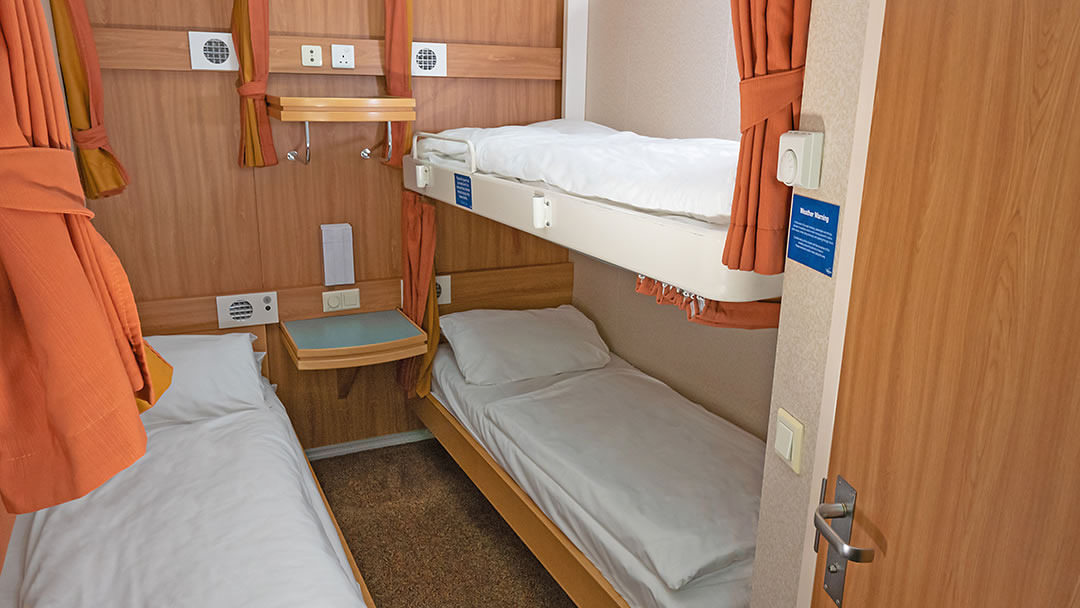Inside 4-berth cabin