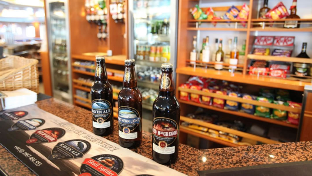 Buy food and drink from Orkney and Shetland on board the ferry