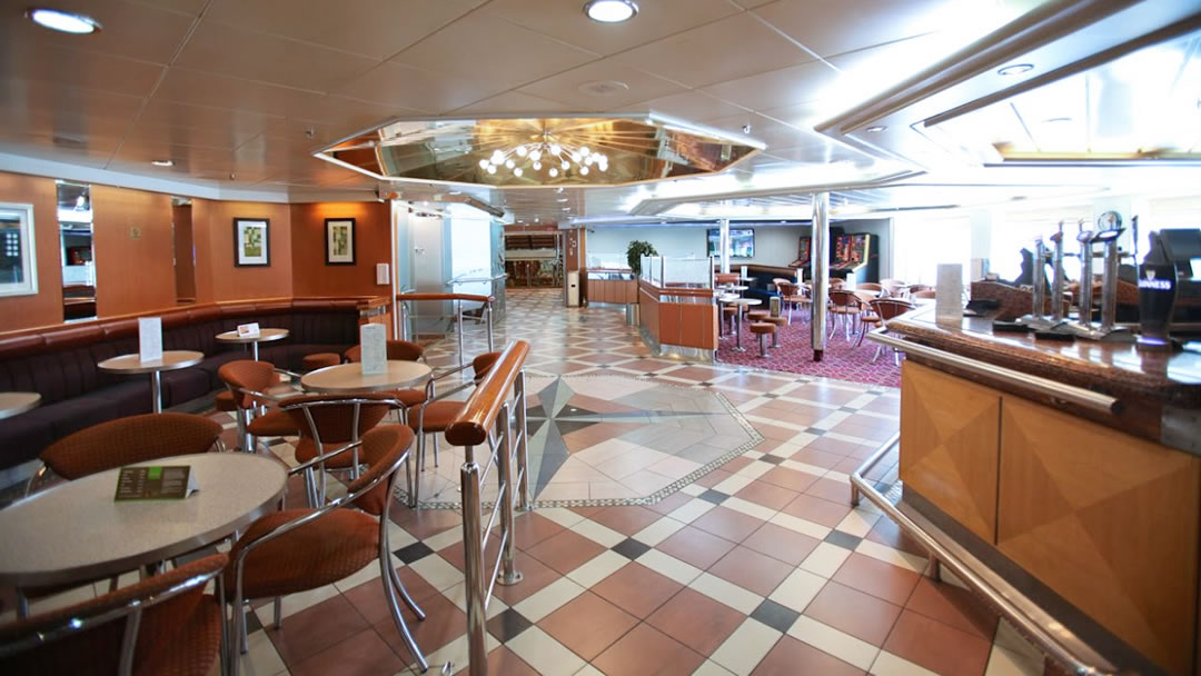 The bar on board MV Hjaltland