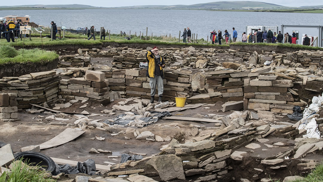 The dig at the Ness of Brodgar in Orkney