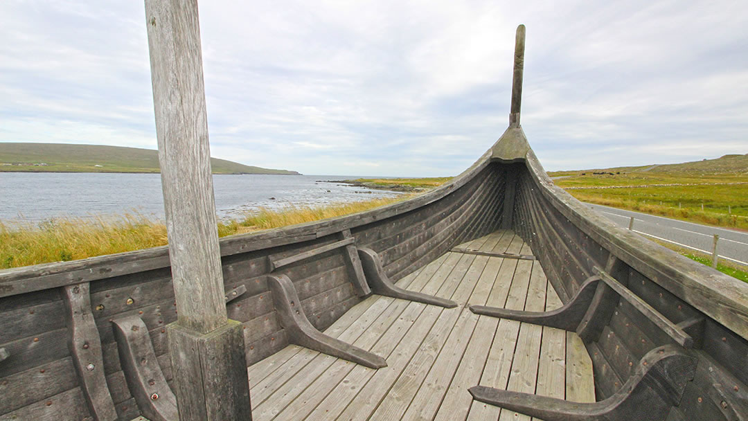 From the deck of Skidbladner - a viking galley at Haroldswick, Unst, Shetland