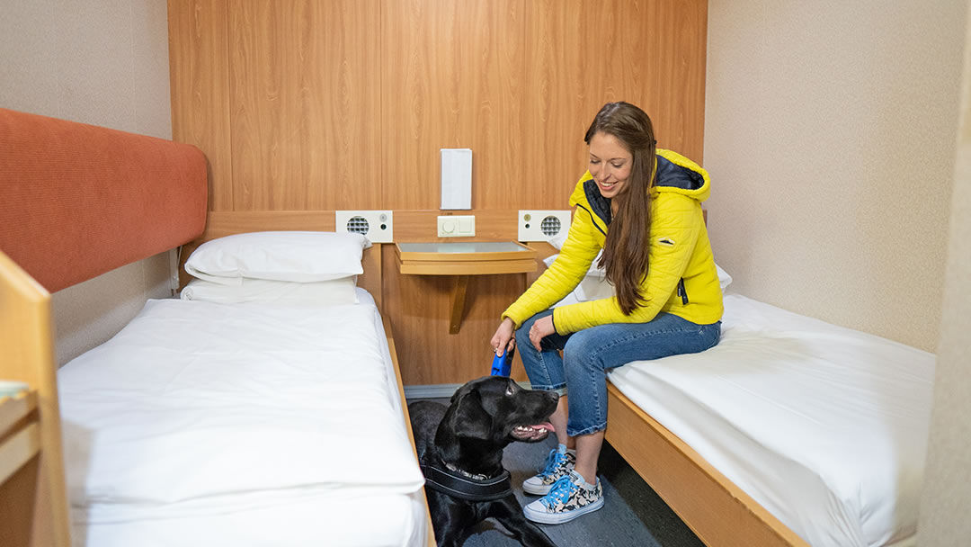 NorthLink ships have pet friendly cabins