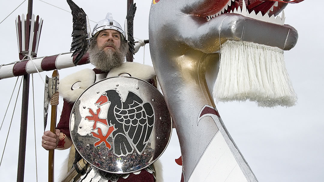 Viking at Lerwick Up Helly Aa